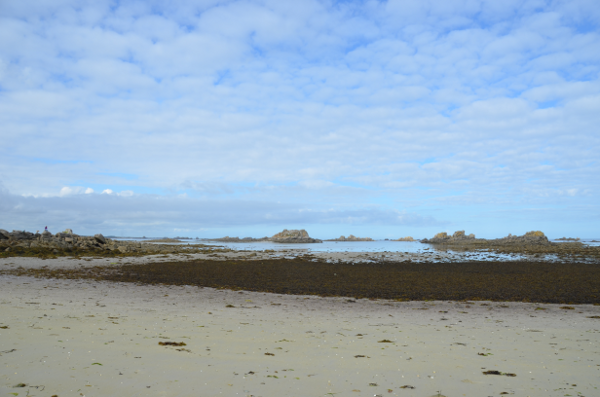 A sandy beach close to Roscoff at low tide